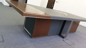 Conference Table (Italian Wood and Leather)