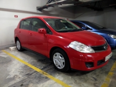 Nissan Tiida 2012, 1.8L, 84,000 KM.GCC Spec, Full Automatic, Red, No accident & No insurance claim 5+ Yrs